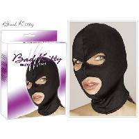 Masquer Bad Kitty - Cagoule noire opaque ouverte TU