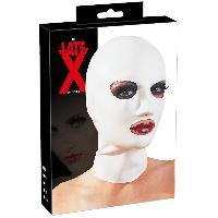 Masquer LateX - Cagoule ouverte blanche en latex - TU