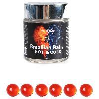 Massage Brazilian Balls - Boules Bresiliennes Effet Chaud - Froid X6