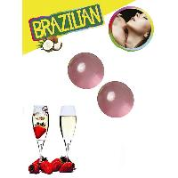Massage Brazilian Balls - Boules Bresiliennes Saveur Fraise / Vin Petillant X2