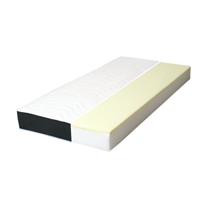 Dormipurmemo v850 matelas 90 x 190 cm mousse polyurethane et memoire de forme equilibre 30 - Matelas mousse polyurethane 35 kg m3 ...