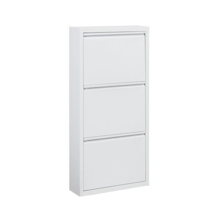 aucune camden meuble a chaussures 50 cm blanc laque 336464. Black Bedroom Furniture Sets. Home Design Ideas