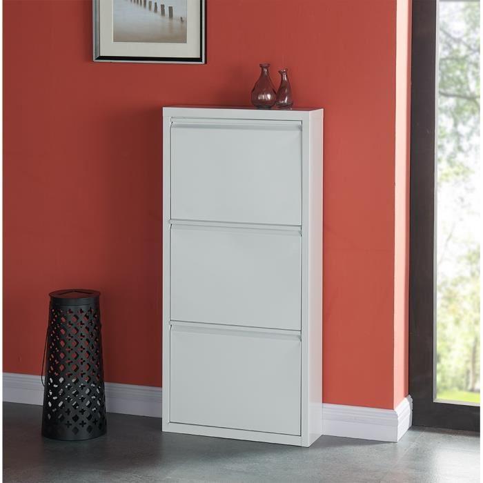 Aucune camden meuble a chaussures 50 cm blanc laque 336464 for Meuble 50 cm