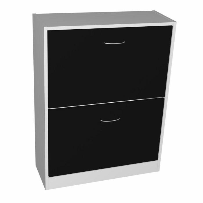 aucune scarpa meuble a chaussures noir et gris 81cm 247598. Black Bedroom Furniture Sets. Home Design Ideas