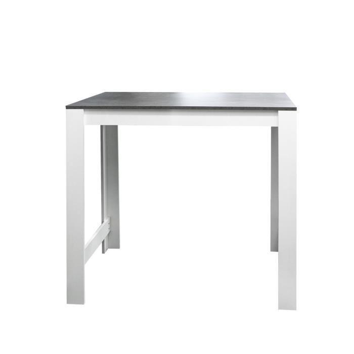 Aucune curry table bar 110x70 cm blanc et decor beton for Meuble 110 x 70