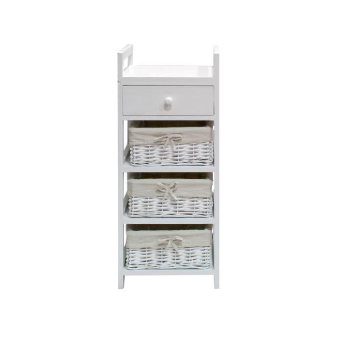 Firenza petit meuble de rangement de salle de bain 30 cm for Petit meuble blanc salle de bain