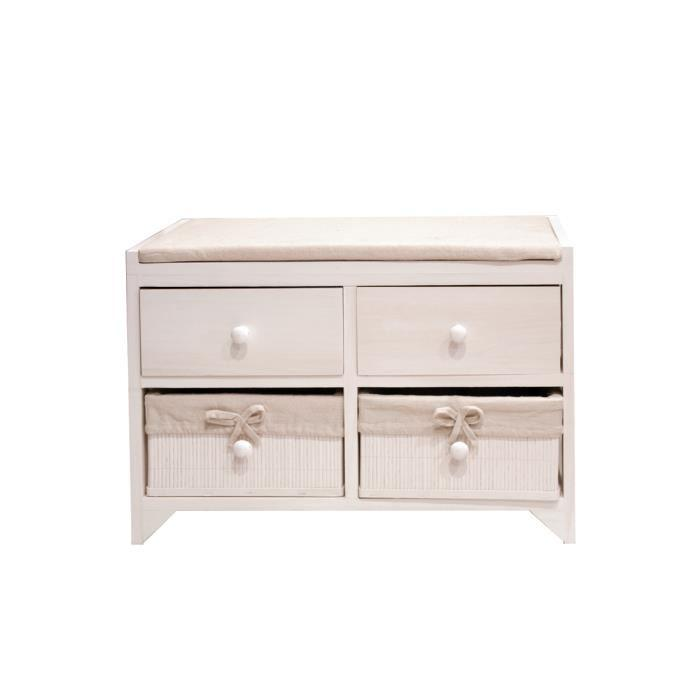 meuble bas commode semainier de salle de bain mid. Black Bedroom Furniture Sets. Home Design Ideas
