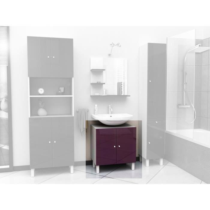 aucune corail meuble sous lavabo 60 cm aubergine 250891. Black Bedroom Furniture Sets. Home Design Ideas