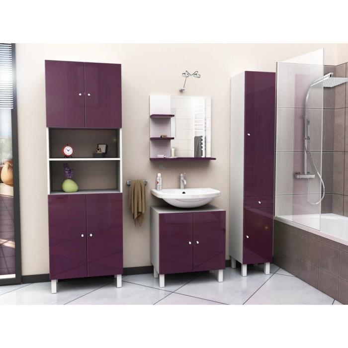 Aucune corail meuble sous lavabo 60 cm aubergine 250891 - Meuble vasque 60 ...