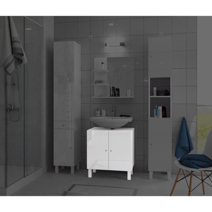 aucune corail meuble sous lavabo 60 cm blanc 250892. Black Bedroom Furniture Sets. Home Design Ideas