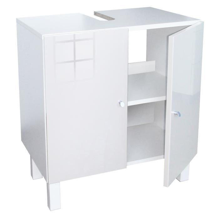 aucune corail meuble sous lavabo 60 cm blanc 250892. Black Bedroom Furniture Sets. Home Design Ideas