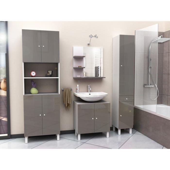 aucune corail meuble sous lavabo 60 cm gris taupe 266325. Black Bedroom Furniture Sets. Home Design Ideas