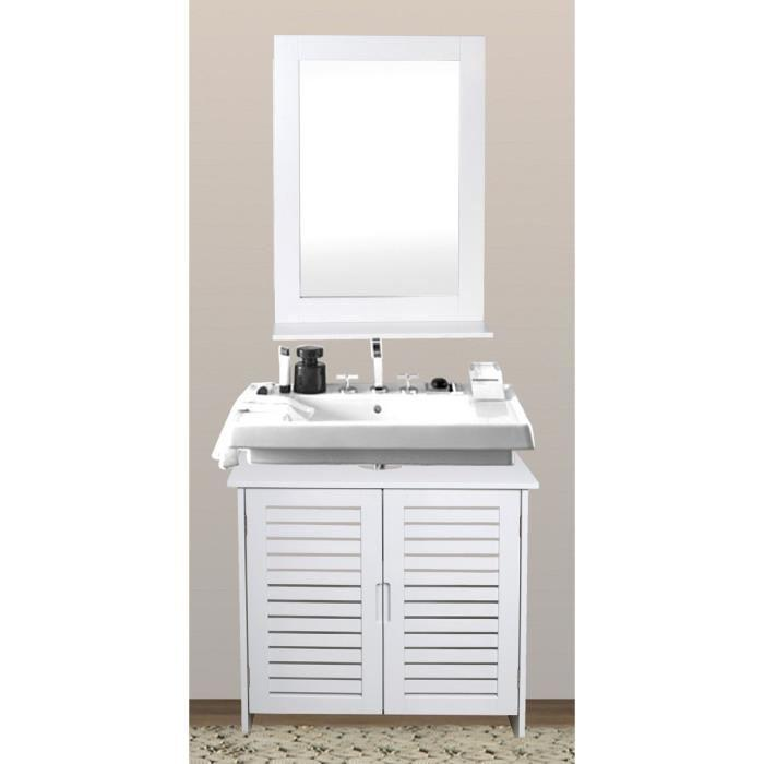 aucune linda meuble sous lavabo 60 cm blanc 292302. Black Bedroom Furniture Sets. Home Design Ideas