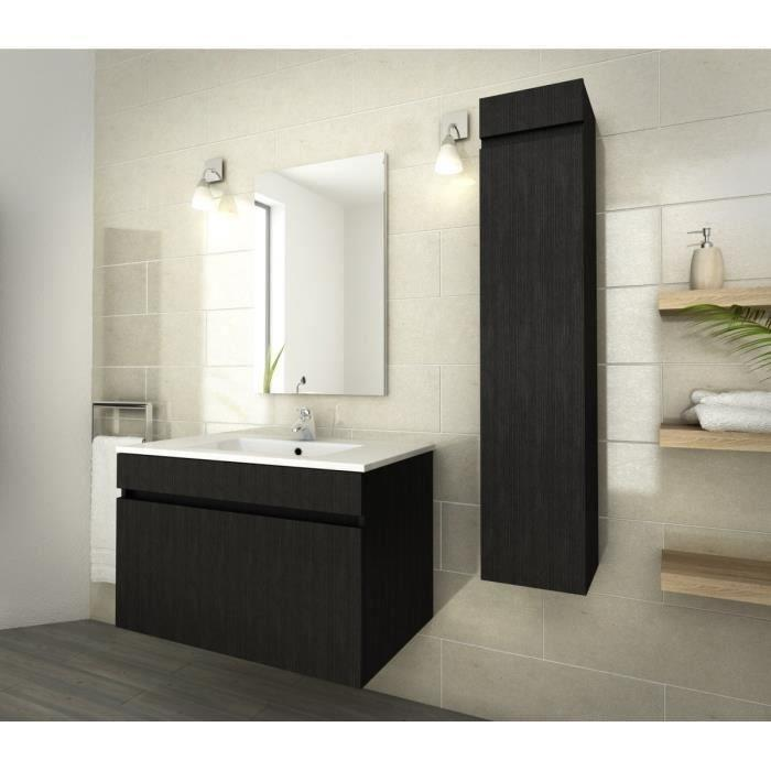 aucune luna ensemble de salle de bain 80 cm decor essen noir 273686. Black Bedroom Furniture Sets. Home Design Ideas