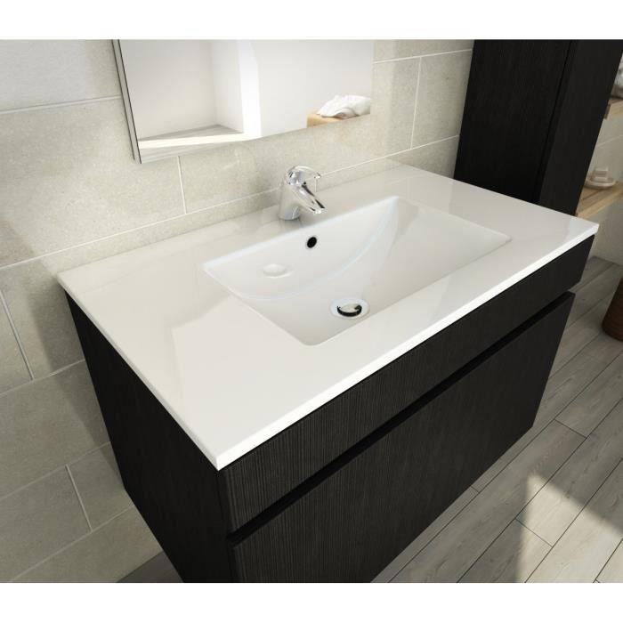 aucune luna ensemble de salle de bain 80 cm decor essen noir 273686. Black Bedroom Furniture Sets. Home Design Ideas