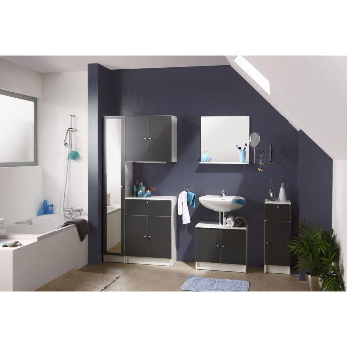 aucune meubles sous lavabo slash anthracite l59 cm 250885. Black Bedroom Furniture Sets. Home Design Ideas
