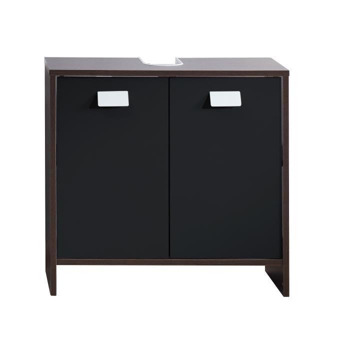 aucune top meuble sous vasque 60 cm wenge et noir 380486. Black Bedroom Furniture Sets. Home Design Ideas