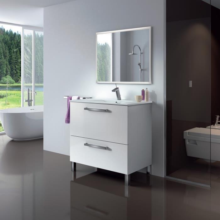 urban meuble salle de bain complet blanc brillant