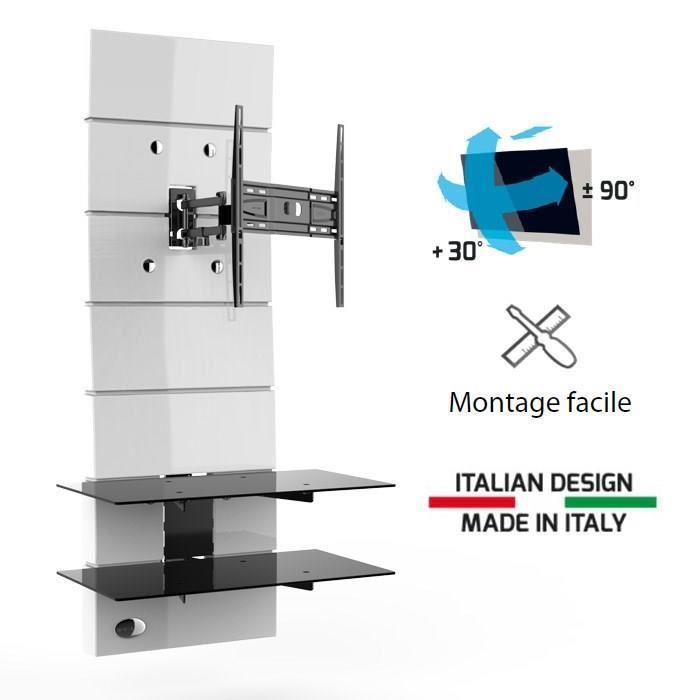 meuble tv chaine hifi integree mid. Black Bedroom Furniture Sets. Home Design Ideas