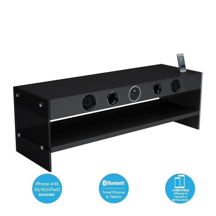 sound vision soundvision soundstand300 meuble tv hifi bluetooth 351132. Black Bedroom Furniture Sets. Home Design Ideas
