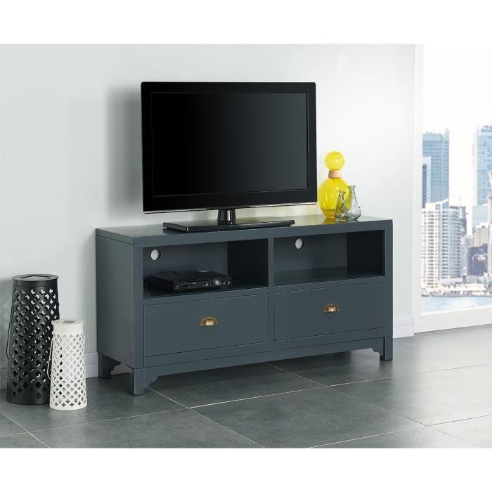 aucune camden meuble tv 120 cm gris fonc 336929. Black Bedroom Furniture Sets. Home Design Ideas