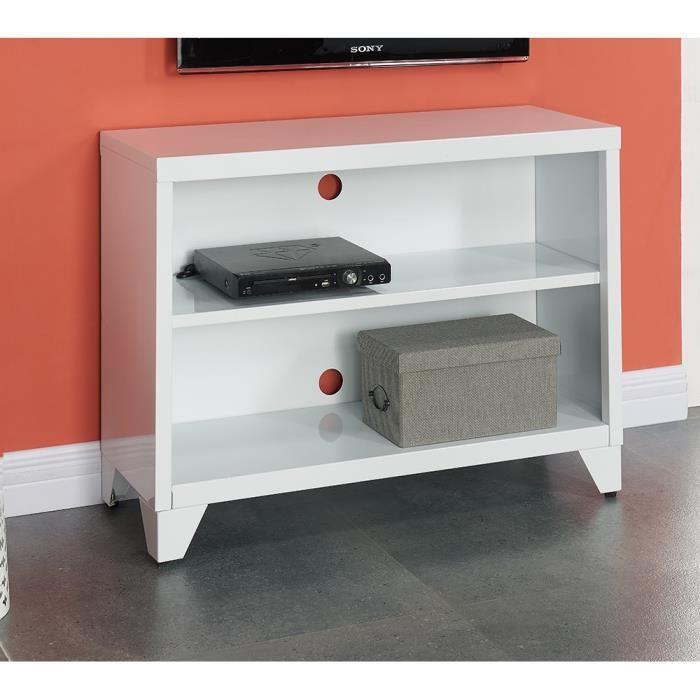 aucune camden meuble tv 80 cm blanc laqu 336927. Black Bedroom Furniture Sets. Home Design Ideas