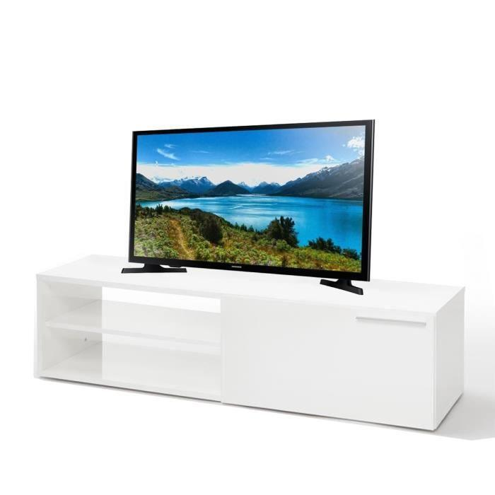 aucune ensemble meuble tv 130 cm blanc brillant tv samsung 32 392221. Black Bedroom Furniture Sets. Home Design Ideas