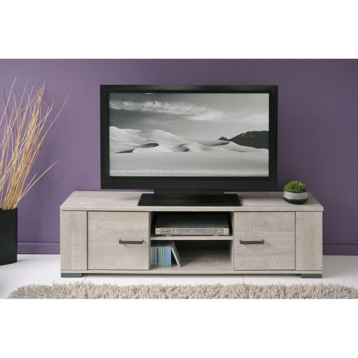 aucune loft meuble tv 151 cm d cor gris 265725. Black Bedroom Furniture Sets. Home Design Ideas