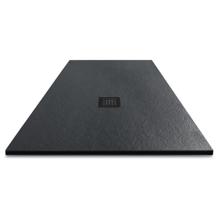 mitola mitola receveur en r sine composite liwa 120x80 anthracite 266614. Black Bedroom Furniture Sets. Home Design Ideas