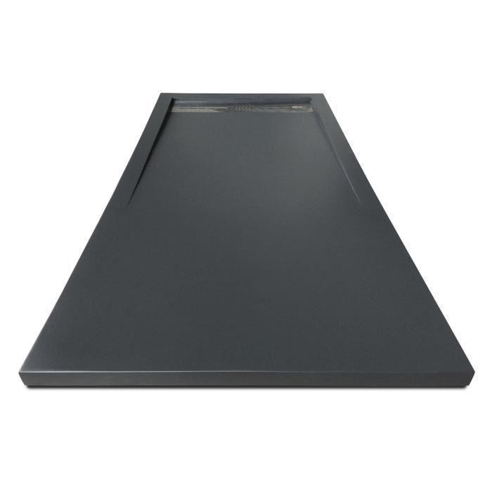 mitola mitola receveur en resine composite spirit 120x80 anthracite 266620. Black Bedroom Furniture Sets. Home Design Ideas