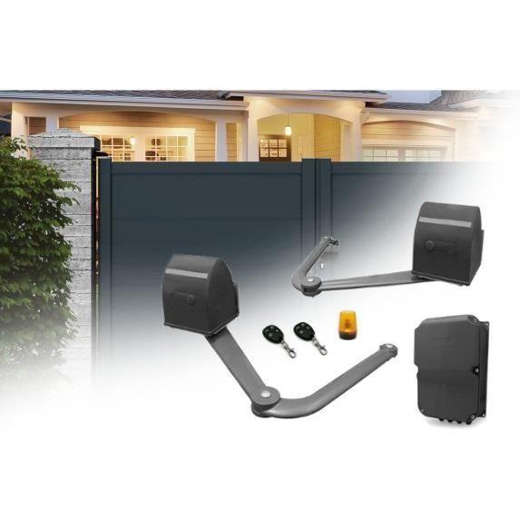 kit de motorisation a bras articules pour portail a 2 battants 12vdc 5m 500kg 307859. Black Bedroom Furniture Sets. Home Design Ideas
