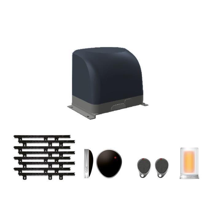 extel kit complet de motorisation de portail coulissant pouvant etre connectee amxi 9mx350kg. Black Bedroom Furniture Sets. Home Design Ideas