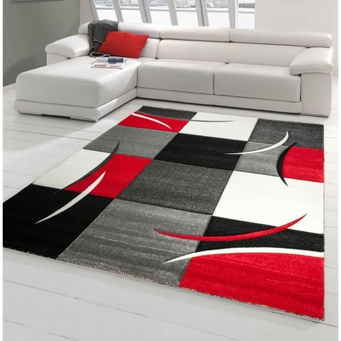 nazar diamond tapis de salon rouge 120x170cm 306681. Black Bedroom Furniture Sets. Home Design Ideas