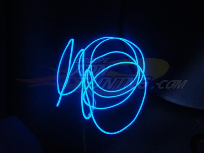 caliber neon softwire neon filaire fibre optique bleu 200cm 76912. Black Bedroom Furniture Sets. Home Design Ideas