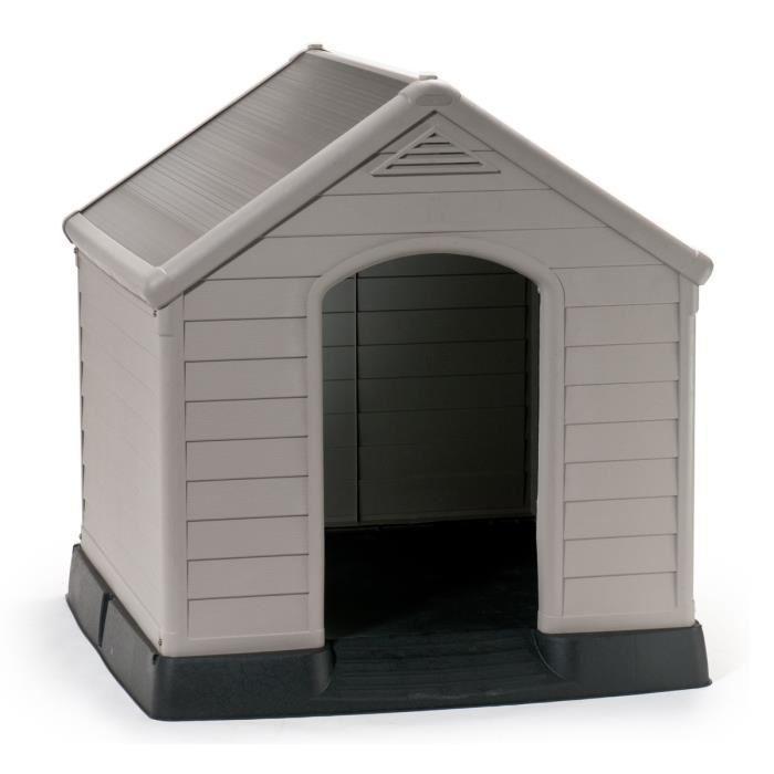aucune niche pour chien en pvc beige et marron 99 x 95 x. Black Bedroom Furniture Sets. Home Design Ideas
