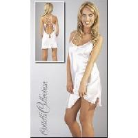 Nuisettes sexy Cottelli - Nuisette satin - Blanc - Taille L