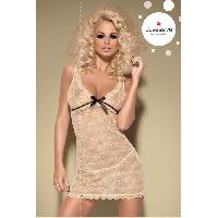 Nuisettes sexy LRDP - Caramellla Chemise - Nuisette moulante - OBSESSIVE - Caramel - taille SM