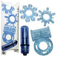 Oeufs Vibrants LRDP - Coffret 4 Sex Toys Climax Kit Neon Bleu