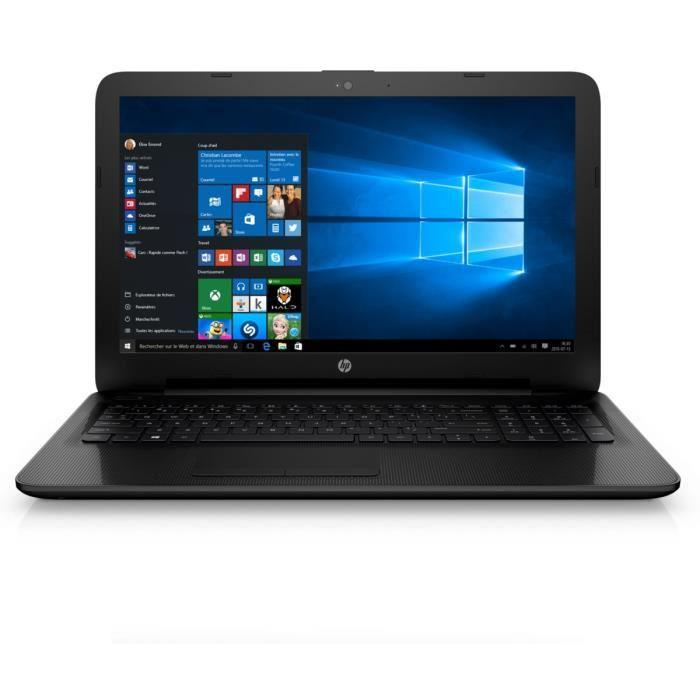 hp pc portable notebook 15af127nf noir ram 6go windows 10 apu amd quad core a6 5200. Black Bedroom Furniture Sets. Home Design Ideas