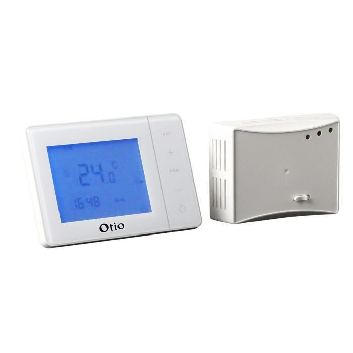 otio otio thermostat programmable sans fil 303945. Black Bedroom Furniture Sets. Home Design Ideas
