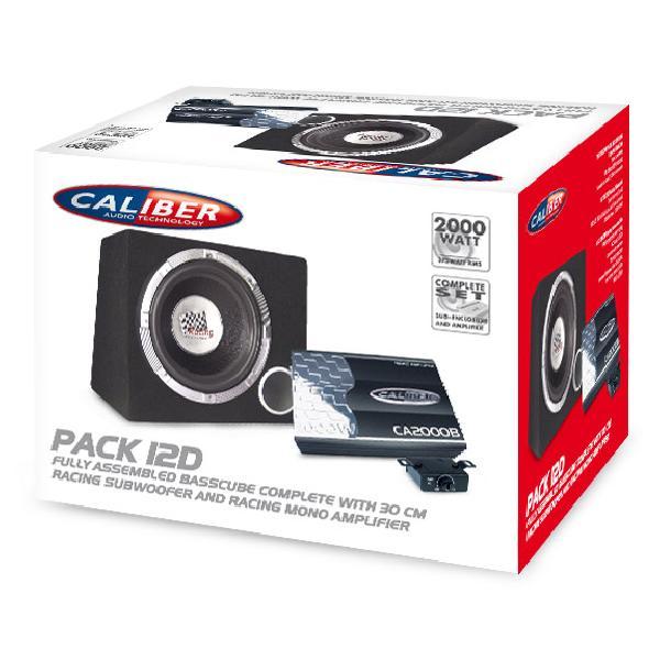 Pack 12D - Pack Ampli mono 2000W - Basscube avec sub 12p