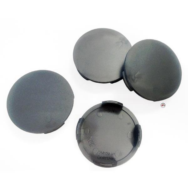 Pack 4 Caches Moyeux Plats - Diametre 59mm - Sans logo - ADNAuto