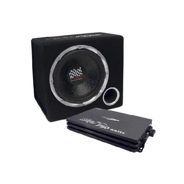 Pack Caisson de basse Subwoofer 30 cm et amplificateur 4 cannaux