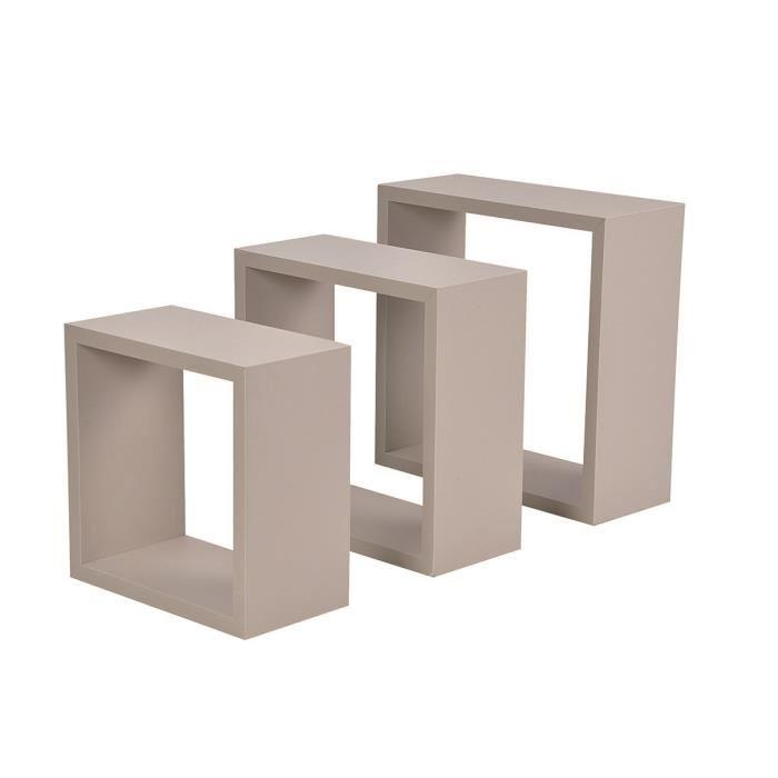 codico codico set de 3 cubes gigognes homeo 23 26 30 cm taupe 413817. Black Bedroom Furniture Sets. Home Design Ideas