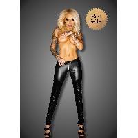 Pantalons Noir Handmade - Pantalon avec Zip Slinky F115 - XXL