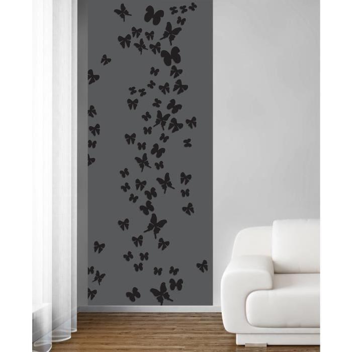 PLAGE Panneau en intisse Panoramique - Envol de papillons ...