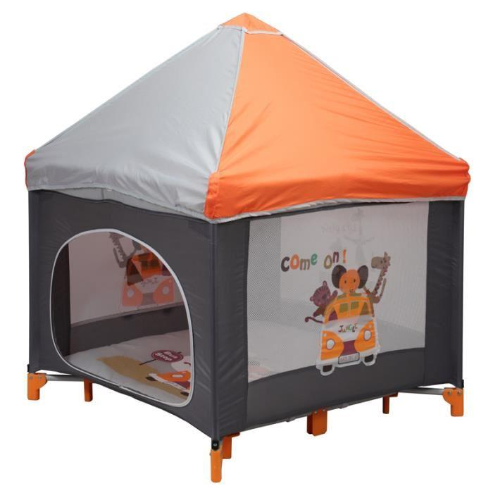bambisol bambisol parc pliant cabane orange 316622. Black Bedroom Furniture Sets. Home Design Ideas
