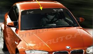 Pare-soleil Adhesifs ADNAuto - 1 sticker Pare-soleil ADN Auto/ Drift Squad - 1250 x 190 - Gris sur fond noir