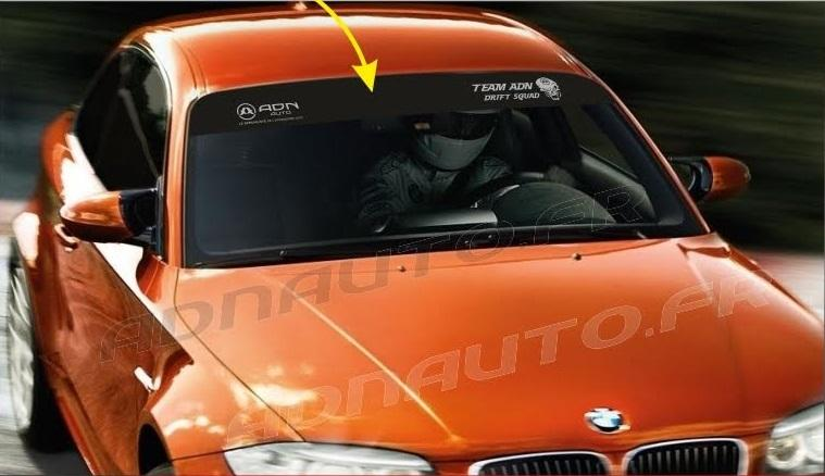1 sticker pare soleil adn auto drift squad 1250 x 190. Black Bedroom Furniture Sets. Home Design Ideas