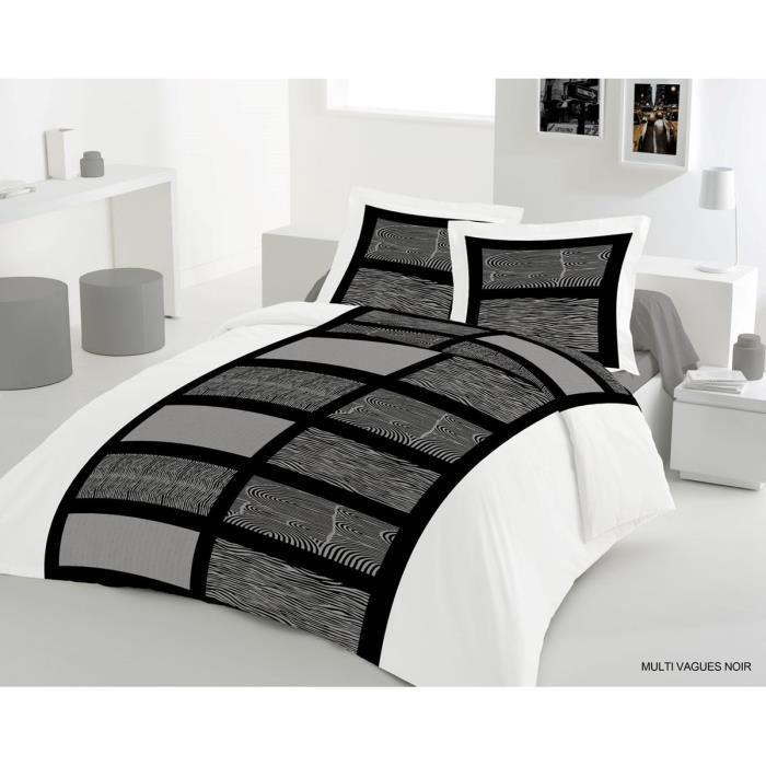 lovely home parure de couette multi vagues 1 housse de couette 200x200 cm. Black Bedroom Furniture Sets. Home Design Ideas
